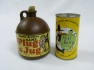 "Hillbilly-themed word game called ""Plug a Jug"" and early pop can with hillbilly art. Photo provided by Chris Miller and Berea College."