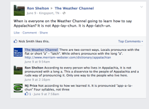 Ron vs Weather Channel